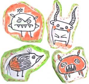 gouache monsters